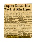 54/07/26 Inquest Delves Into Work of Miss Hayes