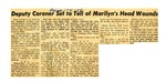 54/11/04 Deputy Coroner Set to Tell of Marilyn's Head Wounds