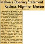 54/11/05 Mahon's Opening Statement Reviews Night of Murder