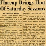 54/11/06 Flareup Brings Hint Of Saturday Sessions by Cleveland News