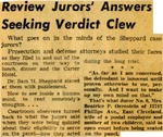 54/12/20 Review Juror's Answers Seeking Verdict Clew