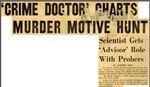 54/07/17 'Crime Doctor' Charts Murder Motive Hunt by Cleveland News