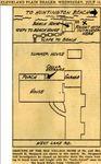 54/07/14 Sketch: Grounds of the Bay Village Home of Dr. & Mrs. Samuel H. Sheppard by Cleveland Plain Dealer