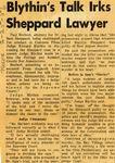 56/02/25 Blythin's Talk Irks Sheppard Lawyer by Cleveland News
