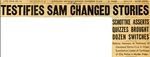 54/11/20 Testifies Sam Changed Stories by Cleveland Plain Dealer