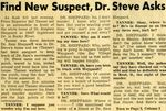 54/07/31 Find New Suspect, Dr. Steve Asks