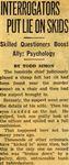 54/08/01 Interrogators Put Lie On Skids by Cleveland Plain Dealer