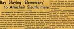 54/07/13 Bay Slaying 'Elementary' to Armchair Sleuths Here by Cleveland Plain Dealer
