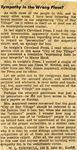 """54/08/09 """"Sympathy in the Wrong Place?"""" (Letter to the Editor) by Cleveland Press"""
