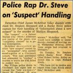 54/11/22 Police Rap Dr. Steve on 'Suspect' Handling by Cleveland Press