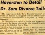 54/11/22 Hoversten to Detail Dr. Sam Divorce Talk by Cleveland Press