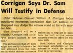54/11/23 Corrigan Says Dr. Sam Will Testify in Defense
