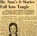 54/11/22 Dr. Sam's 6 Stories Fall Into Tangle by Cleveland News
