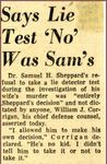 54/08/20 Says Lie Test 'No' Was Sam's