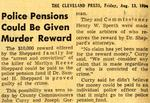 54/08/13 Police Pensions Could Be Given Murder Reward