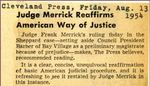 54/08/13 Judge Merrick Reaffirms American Way of Justice
