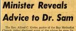 54/08/13 Minister Reveals Advice to Dr. Sam by Cleveland Press