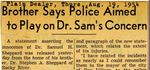 54/08/19 Brother Says Police Aimed to Play on Dr. Sam's Concern