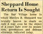 54/08/25 Sheppard Home Return is Sought