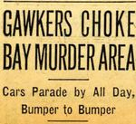 54/08/02 Gawkers Choke Bay Murder Area by Cleveland Plain Dealer