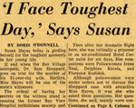 54/08/04 'I Face Toughest Day, ' Says Susan by Cleveland News