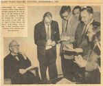 54/12/21 [Photo of Judge Edward Blythin flanked by reporters] by Cleveland Plain Dealer