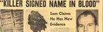 55/04/27 Killer signed name in blood by Cleveland Press