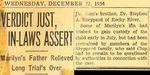54/12/22 Verdict Just, In-Laws Assert