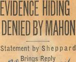 54/12/27 Evidence Hiding Denied By Mahon by Cleveland Plain Dealer