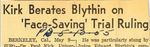 55/5/10 Kirk berates Blythin on 'face-saving' trial ruling, by Cleveland Plain Dealer