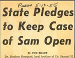 55/5/10 State Pledges to Keep Case of Sam Open by Cleveland Press
