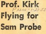 55/01/21 Prof. Kirk Flying for Sam Probe by Cleveland Press