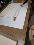 Jamye Jamison demonstrates how to store an oversized map by Marsha Miles