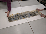 Panoramic photograph is placed into blotter stack by Marsha Miles