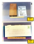 Plaintiff's Exhibit 0341 & 0343: Coroner's slides - Box 4; envelope w/ wood chip