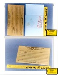 Plaintiff's Exhibit 0800 & 0801: Envelope w/slide containing stain from under porch floor