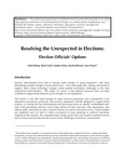 Resolving the Unexpected in Elections: Election Officials' Options