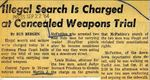 64/09/22 Illegal Search is Charged at Concealed Weapons Trial by Cleveland Press