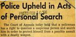 66/02/10 Police Upheld in Acts of Personal Search