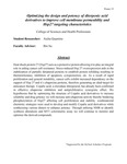 Optimizing the design and potency of diterpenic acid derivatives to improve cell membrane permeability and Hsp27 targeting characteristics by Aicha Quamine