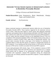 Autonomic Nervous System response to interpersonal exclusion in Borderline Personality Disorder by Ilona Ponomariova, Brock Bodenbender, Khadeja Najjar, and Elizabeth Golias
