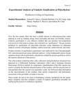 Experimental Analysis of Catalytic Gasification of Polyethylene by Eric M. Lange, Samuel O. Sanya, Aliandra Barbutti, Stephen A. Reeves, Joshua M. Cmar, and Jade Moten