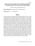 Effect of parental communication on adjustment of typically developing children with an atypically developing sibling by Christina Adkins and Meghan Murray