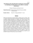 Development of the Parenting Style and Practice Scale (PSPS) in examining parenting practices and children's academic performance