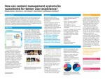 How can content management systems be customized for better user experience?