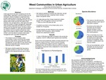 Weed communities in urban agriculture